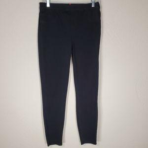 Spanx Jean-ish ankle leggings black pockets L